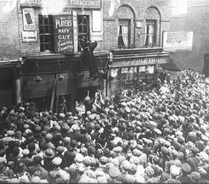 The Lusitania riots - 136 Chrisp St, Poplar, London -Tobacconist's shop belonging to Adolph Shoenfeld.