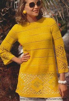 DIY crochet tunic