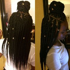 Long Box Braids: 67 Hairstyles To Upgrade Your Box Braids - Hairstyles Trends Big Box Braids, Blonde Box Braids, Black Girl Braids, Box Braids Styling, Girls Braids, Box Braids Hairstyles, Black Girls Hairstyles, African Hairstyles, Modern Hairstyles