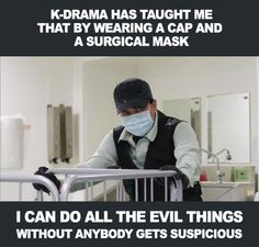 Yeah, that wouldn't draw any suspicion. Drama Fever, Drama Drama, Korean Drama Quotes, Drama Funny, Kdrama Memes, Japanese Drama, Funny Scenes, Kdrama Actors, Drama Movies