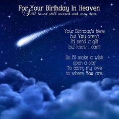 Birth Day QUOTATION – Image : Quotes about Birthday – Description For Your Birthday In Heaven ...