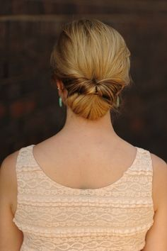 Easy Low Chignon Wedding Hairstyles