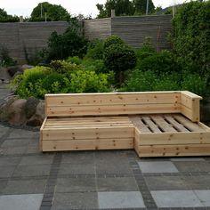 Pallet Lounge, Backyard, Patio, Wood Storage, Pallets, Playground, Bench, Exterior, Garden