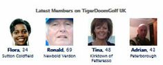 Some of the latest members to sign up with Tigerdoom Golf UK