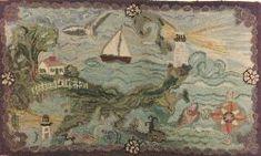 Pictorial Wool Hooked Rug | Sale Number 2195, Lot Number 984 | Skinner Auctioneers