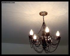 diy chandelier makeover after