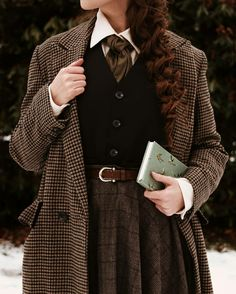 Aesthetic Fashion, Look Fashion, Aesthetic Clothes, Fashion Outfits, Mode Harry Potter, Vintage Outfits, Vintage Fashion, Vintage Mode, Mein Style