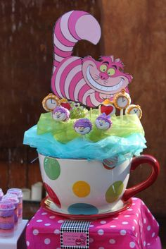 Cake pops at a Alice in Wonderland Party