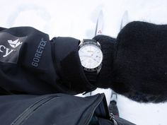 """The reliable watch companion of polar explorers Borge Ousland and Vincent Colliard in their crossing of the Svalbard Glacier, the of the 20 of the Alpina Ice Legacy project, the antimagnetic Alpina Watches """"Alpiner GMT, equipped with a compas Alpina Watches, Legacy Projects, Compass, Ice, Ice Cream"""