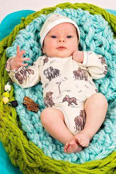 Baby Boy Onesie  Organic Baby  Organic Baby by PettiBearKIDS