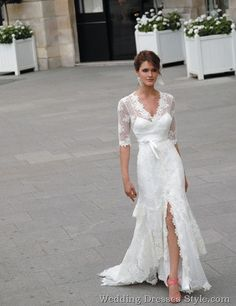 bridal gowns with sleeves | 2012 Bridal Gowns Trends–Lace Sleeves | Thread | Wedding Dresses ...