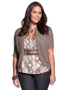 Short Dolman Sleeve Bolero - Women's Sweaters & Plus Size Sweaters - eloquii by The Limited