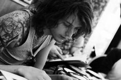 Ben Bruce<3--Asking Alexandria; I'm in love with him.