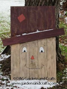 Pallet Scarecrow Project by D&G Gardens and Crafts