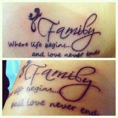 Mother and Daughter Tattoos/pinterest ...with my daughters!! P & Z