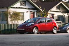 Nissan LEAF - all electric car what our new car is going to look like.
