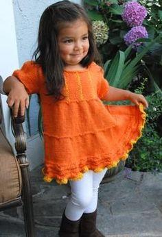 Baby Sedona Dress - Knitting Patterns by Sarah Seabury