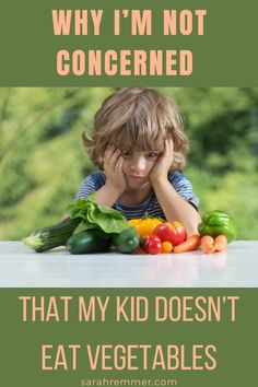 My kids have all gone through a picky eating stage at some point. In my toddlers' case, veggies are the food being spit out or thrown across the room. Here is why I am not worried about his lack of vegetable consumption. #pickyeater #vegetables