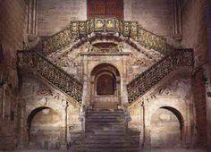 Escalera dorada de la catedral de Burgos. España.