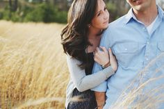 Fall engagement - love the natural intimacy of this photo.