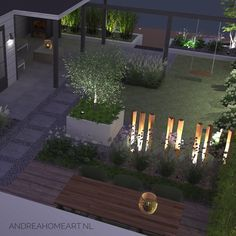 Home Garden Design, Modern Garden Design, Contemporary Garden, Landscape Design, Home And Garden, Classic Garden, Garden Yard Ideas, Outdoor Living, Outdoor Decor