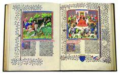"""'Libro de la Caza de Gaston Phebus'. La editorial M. Moleiro, desde hace más de 20 años se dedica a elaborar copias """"casi exactas"""" de estas joyas de la cultura europea."""