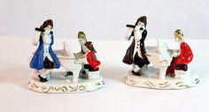 Playful Vintage Figurines in Colonial Dress by 2goodponiesvintage, $18.00