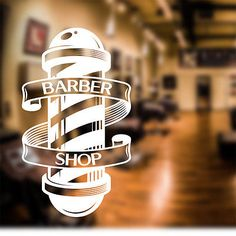 Barber Shop Wall Sticker scissors decal sign door art hair graphic bb4