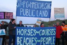 Protesters at Port Fairy