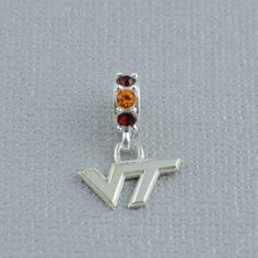 Solid 925 Sterling Silver Virginia Tech Pendant in Football