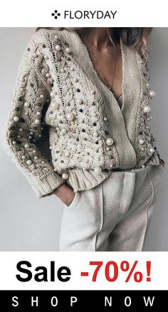 Latest fashion trends in women's Sweaters. Shop online for fashionable ladies' Sweaters at Floryday - your favourite high street store. Mode Outfits, Casual Outfits, Fashion Outfits, Womens Fashion, Style Fashion, Fashion Shoes, Beach Fashion, Classy Fashion, Knit Fashion