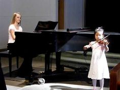 first recital (2 of 2) [Suzuki Violin School Volume 1, Go Tell Aunt Rhody]—See more of this young violinist #from_Hannah95066