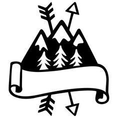 Silhouette Design Store: mountains logo