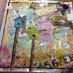 Mixed media journal page created by me
