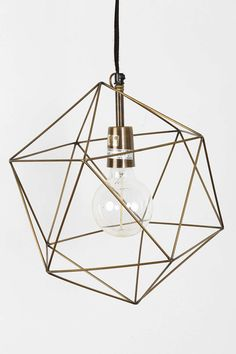 Magical Thinking Geo Pendant from @UrbanOutfitters - would LOVE to see this in a modern nursery!