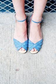 denim sandals, adorbs.