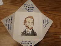 Foldables... Facts go on the folds.  A Burst of First: President's Day Fun!