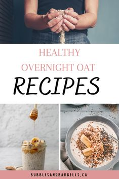 Oats are so versatile and not to mention delicious. Have them hot or cold and top them with your favorite crunchy bits for a great texture and flavour!   Here are 5 of my favorite go-to oat recipes that are protein filled, which makes your belly totally satisfied!   #healthyproteinbreakfast #breakfastideas #overnightoatrecipes #breakfastrecipes #simplebreakfastideas #overnightoatshealthycleaneating #proteinbreakfastrecipes