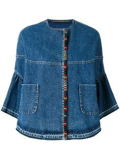 Bazar Deluxe джинсовая куртка с укороченными рукавами