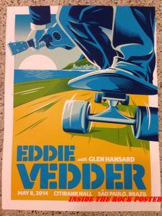 Eddie Vedder Mark 5 Sao Paulo Brazil Poster Night 3