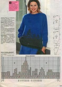"Photo from album ""Интарсия"" on Yandex. Intarsia Knitting, Sweater Knitting Patterns, Knitting Ideas, Knit Fashion, S Man, Double Knitting, Knitwear, Knit Crochet, Pullover"