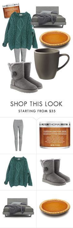 """""""so lazy, so good"""" by hermione-gilchrist ❤ liked on Polyvore featuring Treasure & Bond, Peter Thomas Roth, Essentiel, UGG, Huppé and West Elm"""