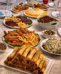 Appetizer table- Sandwiches, roll ups, Wings, veggies, frui Food Platters, Food Dishes, Morrocan Food, Party Food Buffet, Eid Food, Food Garnishes, Food Snapchat, Food Decoration, Food Goals