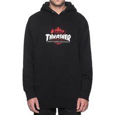 HUF X THRASHER Tour De Stoops Hood sweat à capuche noir 85,00 € #skate #skateboard #skateboarding #streetshop #skateshop @playskateshop