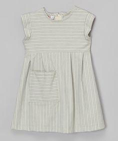 Look what I found on #zulily! Light Blue Stripe Dress - Toddler & Girls by Anna Bouche #zulilyfinds
