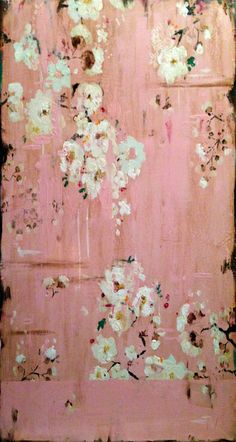 ♥white flowers on pink♥  Kathe Fraga Memories of Home