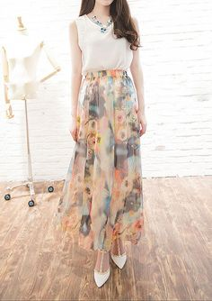 Wholesale boho maxi dress from Cheap boho maxi dress Lots, Buy from Reliable boho maxi dress Wholesalers. Floral Skirts, Floral Maxi, Harem Pants, Chiffon, Bohemian, Summer Dresses, Skirt Outfits, Stylish, Skirt Fashion