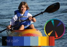 Color Inspiration - Kayak, color wheel, color palette