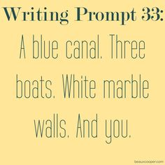 Writing Prompt Thirty-Three--- Get your name out there! --- Now accepting…