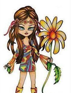 HIPPIE FLOWER GIRL